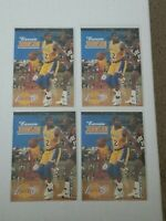 Lot of 4: 1993 Skybox Earvin Magic Johnson Basketball #358 Lakers