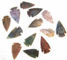 25 STONE ARROWHEADS ART arrowhead stones rock arrow head agate arrows bulk lot