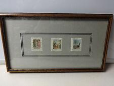 Vintage 1967 Ceskoslovensko Stamps - Framed Postage Stamp Art 3 Different Nice