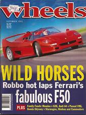 Wheels Sep 95 F50 Passat VR6 A4 E36 328i T-5 wagon XR6