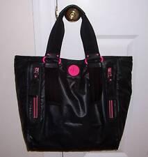 NWT Juicy Couture POP LOCK Nylon XL Tote Bag BLACK YHRUS854