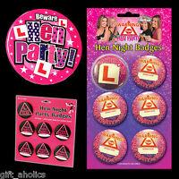 Various HEN PARTY BADGES Hen Party Accessories / Hen Night Accessories
