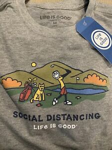 NWT Life Is Good Men/'s Heather Gray Holiday Together LS Crusher T-Shirt sz XXL