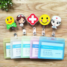 Retractable Badge Reel Nurse Doctor Student Belt Clip + ID Name Tag Card Holder