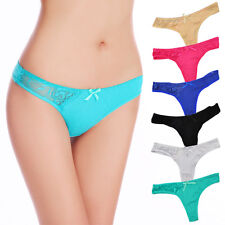 Women Underwear Cotton Sexy Lace Thongs G-Strings Panties Ladies Knickers