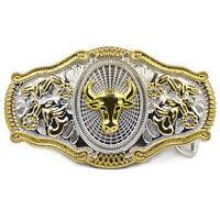 Men Vintage Metal Big Bull Horse Rider Rodeo Belt Buckle Cowboy Texas Western A