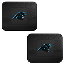 NFL Carolina Panthers Car Truck 2 Back Utility All Weather Rubber Floor Mats