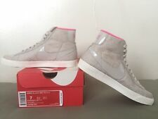 NIKE Womens Blazer Mid Textile Shoes Orewood/Pink Size 7 24cm NEW
