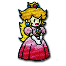 Princess Peach Patch Iron on Retro Boho Kids Vest Sewing Cute Super Mario Game
