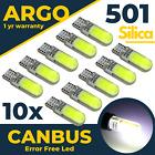 T10 Led 501 Side Light White Bulbs Car Error Free Canbus Xenon W5w Sidelight 10x