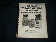 WIZARD OF WOR-Bally/Midway w/SCHEMATICS ORIG. Manual-L@@K!