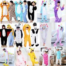 YAOMEI Pigiama unisex per bambini Kigurumi Pigiama da bambina in flanella con animale abbigliamento da notte per Halloween costume di Natale e feste