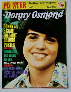 POPSTER # 1 (Nov 1972) - Donny Osmond (large fold out poster)