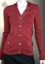 NWT$128 JUICY COUTURE Women SMALL DARK RED Cardigan Sweater DRESSY