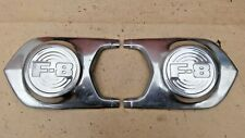 "1951 1952 Ford Truck ""F-8"" HOOD SIDE EMBLEMS Original Series Designation coe"