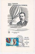 Argentina. Postal con sello y Tema Aeronautico
