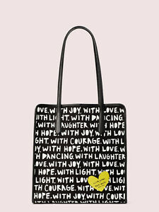 Kate Spade X cleo wade phrases Love tote w/ pouch ~NWT~