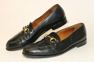Gucci Mens UK 11 US 11.5 Horsebit Leather Loafers Italy Made Shoes 0183-110