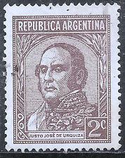 """Argentina Stamp - Scott #420/A130 2c Dark Brown """"Urquiza"""" Canc/LH 1935"""
