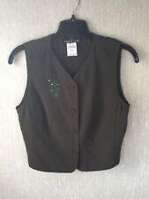 Women's Carol Little Dark Green With Teal Beading Vest Size 10