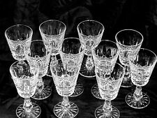 11 WATERFORD Crystal CLARET WINE GLASSES Kenmare Pattern EUC