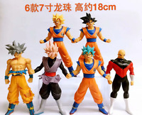 6pcs Dragon Ball Vegeta Son Goku Super Saiyan Figure Toy Gift 18cm