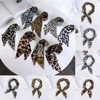 cravates attache cheveux band foulard ruban petite écharpe en soie le léopard
