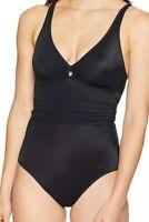 Coastal Blue Women's Swimwear Black Size Large L Cross Back One-Piece $39 #549