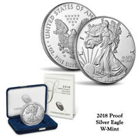 2018-W  American Proof Silver Eagle 1 oz Coin (IN OGP)