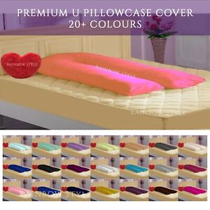 9FT U Shaped Full Body Pillow Case Cover Pregnancy & Maternity Use Pillowcase