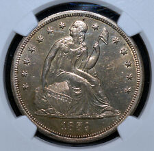 1859 O Seated Liberty Dollar NGC UNC Details Breen 5458 Die Clash Silver $1