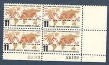 1274 International Telecommunication Union Plate Block Mint/nh