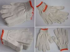 24 Pairs Pack X White Red Work Poly/cotton General Purpose Elastic Yarn Gloves