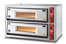 GMG PF6262DE Pizzaofen für Gastronomie 2 Kammer 8x30er Pizzabackofen Backofen