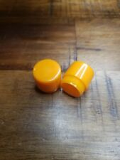 2 Orange DIALIGHT Dialco 135 Lens Covers. Vintage.