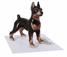 ➸ LITTLE CRITTERZ Dog Miniature Figurine Miniature Pinscher Min Pin Zeus