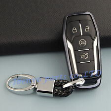 TPU Black Car Key Holder For Ford F-150 Explorer Lincoln MKZ MKC MKX Accessories