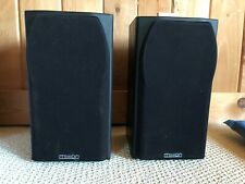 Pair of Mission 700 Bookshelf Speakers 2-Way Reflex Loaded Black, SOUND GREAT!