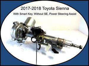 2017-2018 Toyota Sienna Steering Column Power Assist Smart Key Keyless Ignition