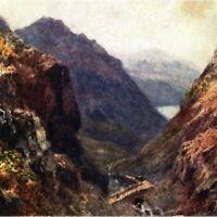 Antique printed postcard The Pass of Llanberis Snowdonia Wales Tucks