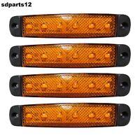 4 X 24 Volts Orange 6 Led Feux De Gabarit Camion Car Van Tracteur Bus Shassis
