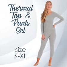 UK Ladies Womens Thermal Set Long Sleeve Top Leggings Pants Underwear Underlayer