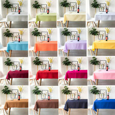 Reusable Polyester Rectangle Tablecloth For Wedding Party Dining Room Home Deocr