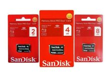 Memory Stick Pro Duo for Sony 2 / 4 / 8GB original NEW  SanDisk