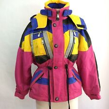 Tyrolia Goretex Ski Jacket Women's Size Small vtg 80's Color Block retro heavy