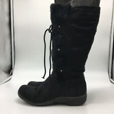 hot tomato boots, Black Fur Boots,Size 10.0