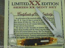 CASE XX MINT SET MEDIUM STOCKMAN DARK MOLASSES BONE 1/250 KNIFE 6318 SS