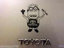 Minion Toyota car vinyl sticker