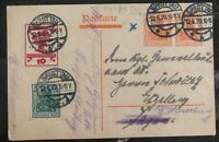 1920 Sprottau Germany Postal Stationary Postcard Cover To Hamburg
