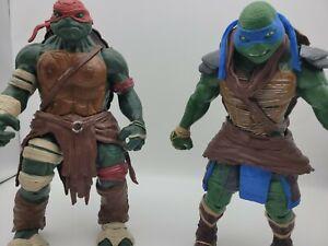 2014 Playmates TMNT Raphael and Leonardo 11 Inch Action Figures